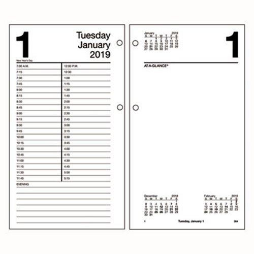 At A Glance Large Desk Calendar Refill 4 1 2 X 8 2019 Aage21050