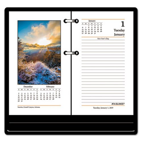 At A Glance Recycled Photographic Desk Calendar Refill 3 1 2 X 6