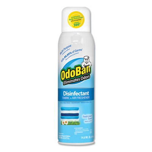 Odoban Disinfectant Fabric Air Freshener Linen 12 Cans Odo91070114a12
