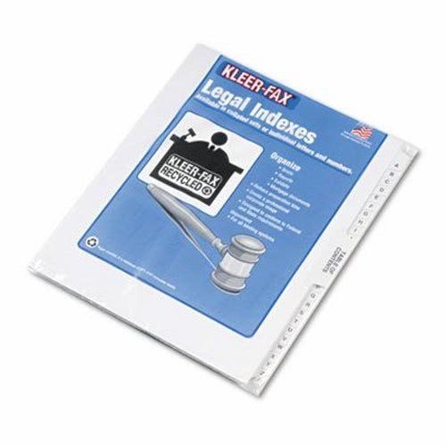 Kleer-fax 80000 Series Legal Exhibit Index Dividers, Printed