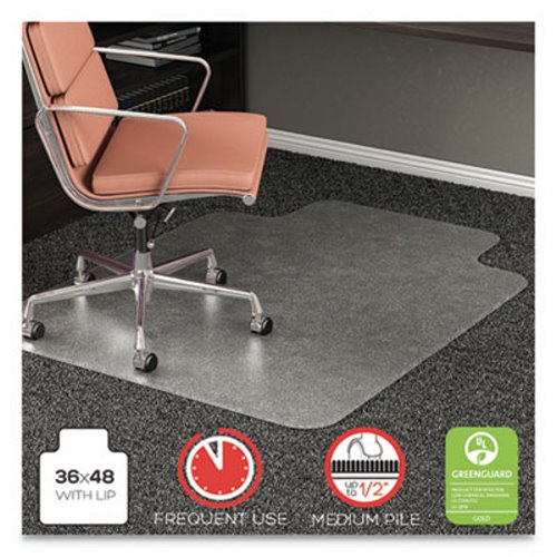 Deflecto Rollamat Frequent Use Chair Mat For High Pile Carpet