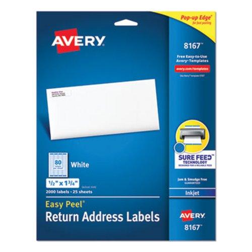 Avery 8167 White Return Address Labels 1 2 X 3 4 000 Ave8167