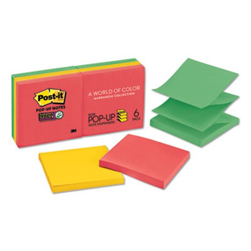 4 x 4 Lined Neon Pink, Post-it Pop-up Notes Super Sticky Pop-up Notes Refill