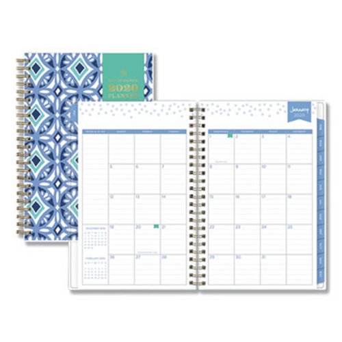 graphic relating to Day Designer for Blue Sky named Blue Sky Working day Designer Tile Weekly/Month-to-month Planner, 8 x 5, Blue/White Include, 2020 (BLS101410)