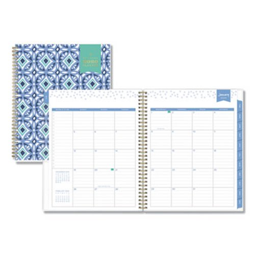 photograph relating to Day Designer for Blue Sky named Blue Sky Working day Designer Tile Weekly/Regular Planner, 11 x 8 1/2, Blue/White Go over, 2020 (BLS101411)