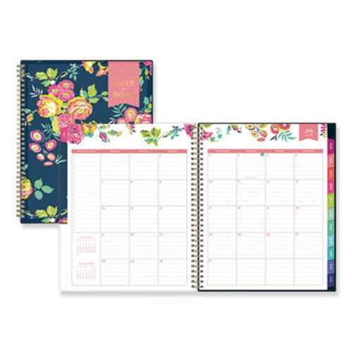 Volume 17 One Line A Day 2019 Planner Weekly And Monthly Calendar Daily Organizer With Minimal Floral Cover