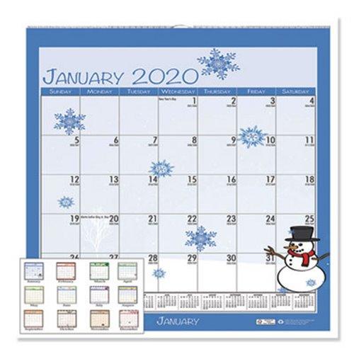 Home For The Holidays 2020.House Of Doolittle 100 Recycled Seasonal Wall Calendar 12 X 12 2020 Hod338