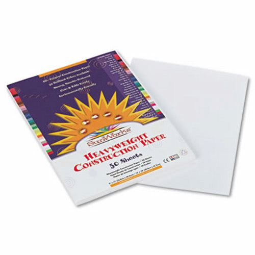 9 x 12 58 lbs. 50 Sheets//Pack Sunworks Construction Paper White PAC9203