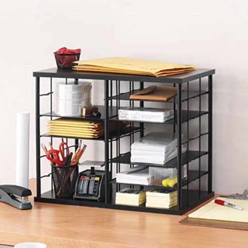 rubbermaid 12slot desktop organizer black rub1738583