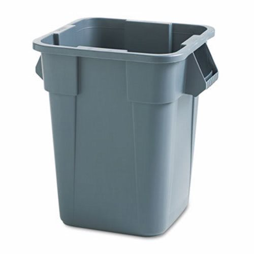 rubbermaid 40 gal brute square trash can container gray rcp gra