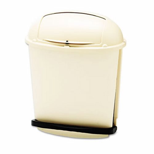 rubbermaid foot pedal rolltop 145 gallon garbage can beige rcp bei - Rubbermaid Garbage Cans