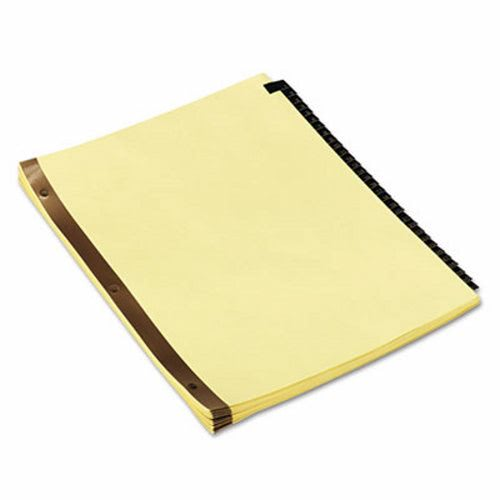 Leather-Look Mylar Tab Dividers, Letter, Black/Gold, 31 Numbered Tabs  (UNV20822)