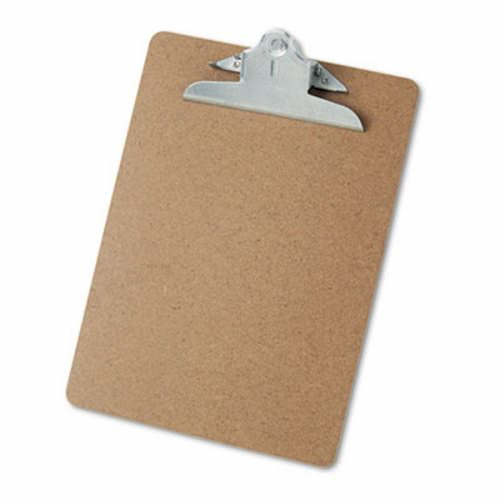 Universal Hardboard Clipboard Holds 8 1 2 X 11 Brown Unv40304