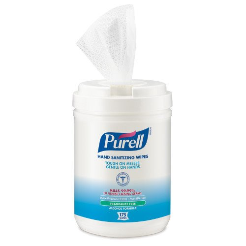 Purell 903106 Sanitizing Wipes, 6 Canisters (GOJ903106)