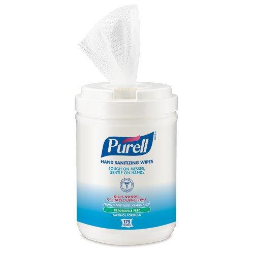 Purell 903106 Sanitizing Wipes, 6 Canisters (GOJ903106)