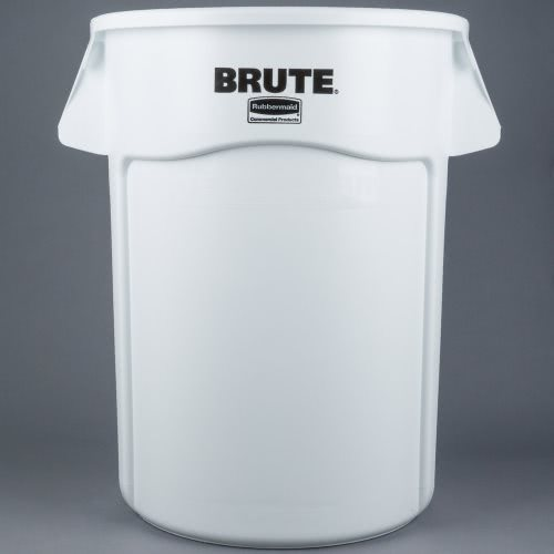 rubbermaid brute 32 gallon vented round waste can white rcp whi