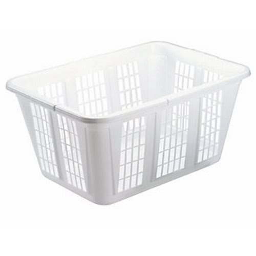 rubbermaid laundry basket plastic white 8 baskets