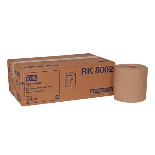Tork Universal Hardwound Paper Roll Towel 1-Ply Case of 6 Rolls 800 per Roll