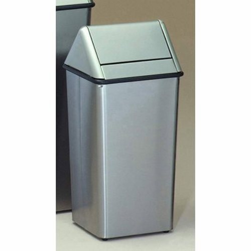 kitchen garbage cans witt 13 gallon stainless steel trash can swingtop witt 10038