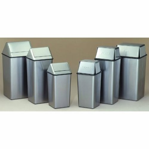 21 gallon stainless steel swingtop kitchen trash can witt 1411htss - Stainless Steel Kitchen Trash Can