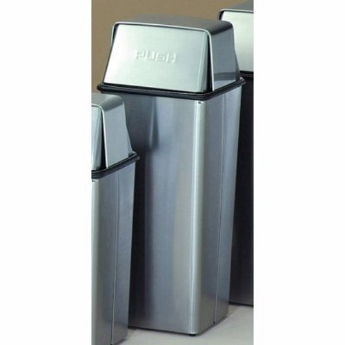 Stainless Steel Kitchen Garbage Can: 21 Gallon Pushtop Trash Can WITT-21HTSS
