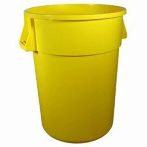 32 Gallon Huskee Trash Can, Yellow (SHR-CON3200YW)