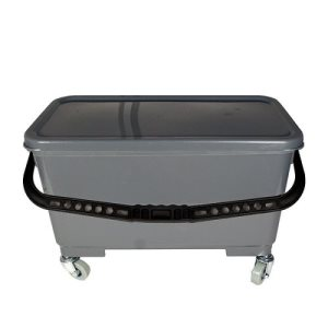 Knuckle Buster Grey Mop Bucket for Flat Mops, 6 Gallon (ACA-MFB6GY)