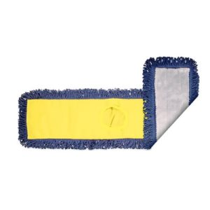 "Knuckle Buster Microfiber Pocket Dust Mop Head, Yellow Back, 24"" (ACA-MFDM24YL)"