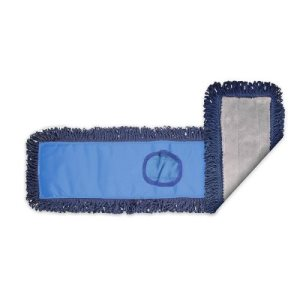 "Knuckle Buster Gray/Navy MFiber Pocket Dust Mop, Blue Back, 48"" (ACA-MFDM48BL)"