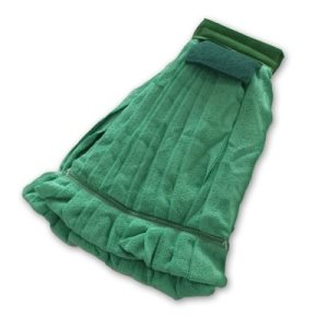 Knuckle Buster Green Microfiber Strip Wet Mop Head, Medium (ACA-MFWMMEDGN)