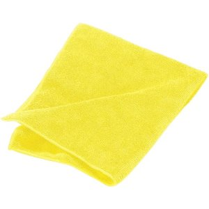 "Carlisle Terry Microfiber Cleaning Cloth 16"" x 16"" - Yellow (3633404)"