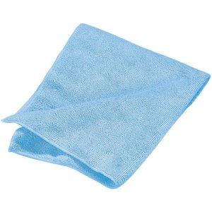 "Carlisle Terry Microfiber Cleaning Cloth 16"" x 16"" - Blue (3633414)"