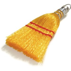 "Carlisle Synthetic Corn Whisk, 9"", Yellow, 12 Broom Heads (3663400)"