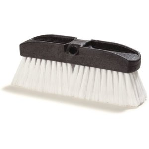 "Carlisle Vehicle Wash Brush With Polystyrene Bristles 10"" - White (36125202)"