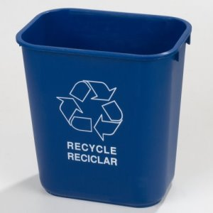 Carlisle Office 3.25 Gallon Recycle Trash Cans, Blue, 12 Cans (342913REC14)