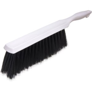 Carlisle Flo-Pac Brush, Polyester Bristles, White, 12 Brushes (4048100)