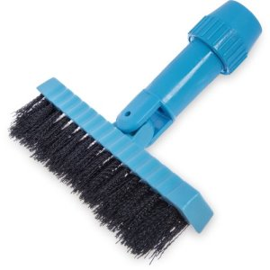 "Carlisle Swivel Head Grout Line Brush, Nylon Bristle 7-1/2"" - Black (36532003)"