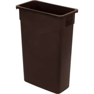 Carlisle TrimLine 23 Gallon Rectangle Trash Cans, Dark Brown, 4 Cans (34202369)