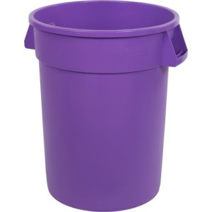 Carlisle Bronco 32 Gallon Round Trash Cans, Purple, 4 Cans (34103289)