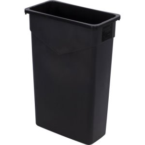 Carlisle TrimLine 23 Gallon Rectangle Trash Cans, Black, 4 Cans (34202303)