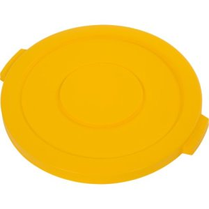 Carlisle Bronco 20 Gallon Round Food & Waste Lids, Yellow, 6 Lids (34102104)