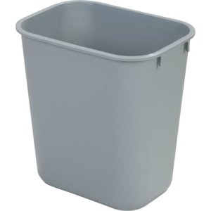 Carlisle Office 7 Gallon Trash Cans, Gray, 12 Cans (34292823)
