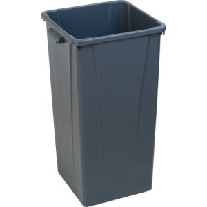 Carlisle Centurian 23 Gallon Square Tall Trash Cans, Gray, 4 Cans (34352323)