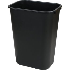 Carlisle Office 10.25 Gallon Trash Cans, Black, 12 Cans (34294103)