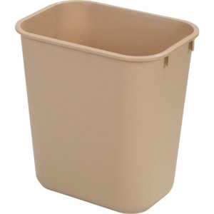 Carlisle Office 7 Gallon Trash Cans, Beige, 12 Cans (34292806)