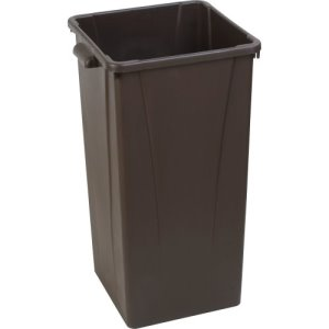 Carlisle Centurian 23 Gallon Square Tall Trash Cans, Brown, 4 Cans (34352369)