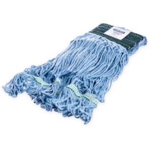 Carlisle Flo-Pac Medium Looped-End Mop With Green Band - Blue (369448B14)