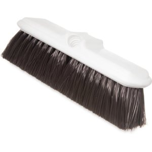"Carlisle Flo-Thru Nylex Brush, Flagged Bristles 9-1/2"", Brown, 12/Case (4005001)"