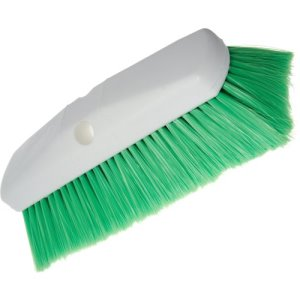 "Carlisle Sparta Spectrum Flo-Thru Wall & Equipment Brush 10"" - Green (4127875)"
