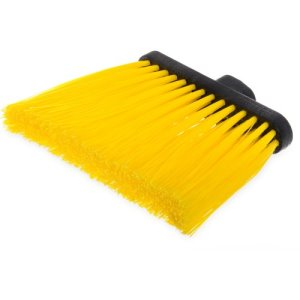 Carlisle Duo-Sweep Angle Broom (Head Only) Yellow, 12 Broom Heads (3686804)